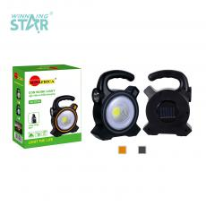 SA-819A New Arrival Solar Rechargeable Hand Hold Camping Lamp Lantern Lamp with Ring Lamp Tube+COB+1W Lamp 18650 Aluminum Battery 1500mAh USB Charging Port Round Jack USB Charging Cable 7 Step Press-Button Switch