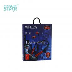 GM-A7 New Arrival Neckband Sports Game Wireless v5.0+EDR Bluetooth Headset Neck Type In-Ear Earbuds with TF Card/Call Function Power Display Long Standby