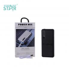 KC585 New Arrival 1A Portable Power Bank Charger External Battery 6000mAh Carry on Board with USB*3 Port V8 Line
