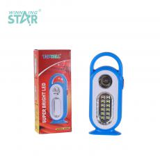 YJ-5688D New Arrival Emergency Light with F8 Light+12 2835 Patch Lamp Beads Light 2 Step Push Switch Handle Use 5# Battery*3
