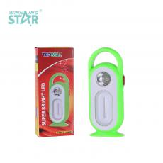 YJ-5688B New Arrival Emergency Light with F8 Light+12 LED O Type Tube 2 Step Push Switch Handle Use 5# Battery*3