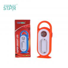 YJ-5688D New Arrival Emergency Light with F8 Light+6 LED Tube 2 Step Push Switch Handle Use 5# Battery*3