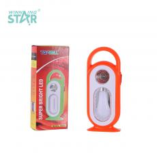 YJ-5688C New Arrival Emergency Light with F8 Light+8 LED Bulb 2 Step Push Switch Handle Use 5# Battery*3