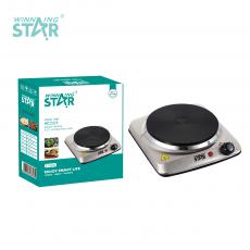 ST-9632 New Arrival WINNING STAR 1500W Single Burner Heater Hot Plate with BS Plug Glass Cast Iron Hot Plate Power Light Adjustable Temperature Control 201 Stainless Steel Case