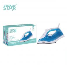 ST-5010 New Arrival WINNING STAR AC 220-240V Household Portable 3 layer UV Electric Dry Iron with 90ml Water Tank Teflon Base Plate PP Material Handle 1.5m Cable VDE Plug