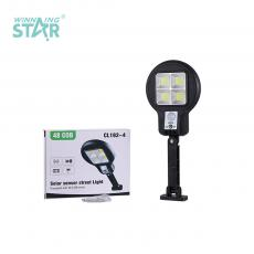 CL182-4 New Arrival 18*11.5cm COB*4 Solar Wall Hanging Lamp Street Lamp with Human Sensing Function Built-in 18650 Lithium Battery 1200mAh Built-in Lithium Battery 1800mAh Bracket