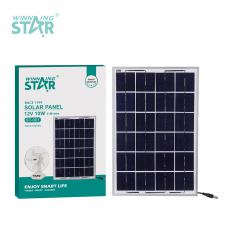 ST-001 New Arrival WINNING STAR 12V/10W Polycrystalline Solar Panel with Aluminum Alloy Frame 666mA DC 5521 Plug 5m Line