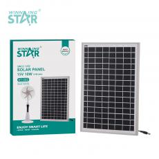 ST-002 New Arrival WINNING STAR 15V/10W Polycrystalline Solar Panel with Aluminum Alloy Frame 666mA DC 5521 Plug 5m Line