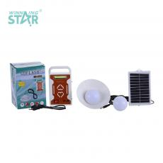 GD-5808 New Arrival COB+1W Solar System Hanging Lamp with V8/USB/8 Type Port Battery 3000mAh 1.5W/5V Solar Panel Polycrystalline Solar Panel Bulb 8 Type Charging Line