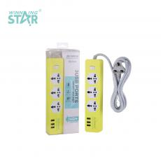 K103 New Arrival SOLO AFRECA ABS 1000W 3 Way 1 Switch Multi Electrical Power Plug Socket with 5V1A 3*USB Port 2m BS Plug Line