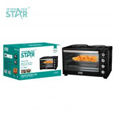 ST-9601 Multi Function  Countertop Electric Oven with 2  Hotplate for home