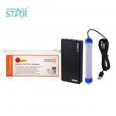 SA-6600 New Arrival SUN AFRICA Wallet Type Power Bank Charger External Battery System with 5V-1A/5V-2A USB Port*2 LED Flashlight 3m USB Connector LED Highlight Tube Built-In 18650 Lithium Battery 5000mAh Power Indicator*4