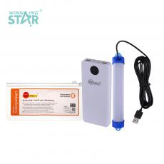 SA-6603 New Arrival SUN AFRICA Power Bank Charger External Battery System with 5V-1A/5V-2A USB Port*2 Lightning/Micro/TPC Port LED Flashlight 3m USB Connector LED Highlight Tube Built-In 18650 Lithium Battery 10000mAh Power Display