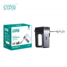 ST-5526 New Arrival WINNING STAR 200W Hand Mixer Egg Beater with Knead Dough 2 Shapes Agitator Bar 5 Speed Regulation BS Plug