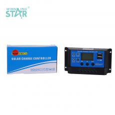 SA-3307 New Arrival SUNARICA 12V/24 10A Automatic Identification Solar Charge Controller with Double USB Port Display Light/Time Control Adjustable Parameter