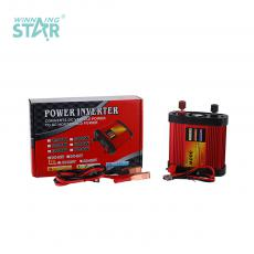 CP-300W New Arrival DC12V-AC220V 50±2hz Solar Power Inverter with 2 Clips Cigarette Lighter Fan Circuit Protection Function USB Port