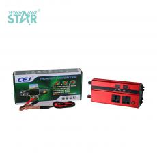 CJ-DDS1000 New Arrival DC12V-AC220/240V 50/60hz 1000W Digital Display Solar Power Inverter with 2 Clips Circuit Protection Function USB Port*4