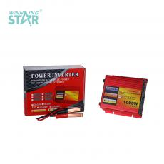 CP-1000W New Arrival DC12V-AC220V 50±2hz Solar Power Inverter with 2 Clips Cigarette Lighter Fan Circuit Protection Function USB Port