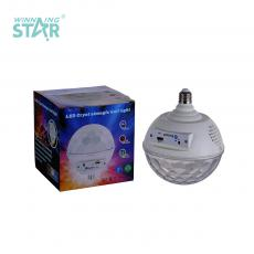 New Arrival E27 LED Ball Shape Bluetooth Music Color Flashing Light Bulb with Voice Control 6 3030 Lamp Beads USB Port