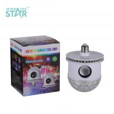 New Arrival E27 LED Ball Shape Bluetooth Music Color Flashing Light Bulb with Voice Control 28 2835/28 5050 Lamp Beads