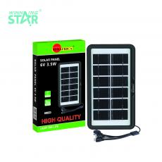 SA-4008 New Arrival SUN AFRICA 3.5W/6V Polycrystalline Solar Panel with 2m 5 in 1 DC5V/6101/V8/V3/USB Cable