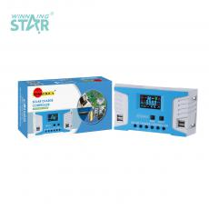 SA-3317 New Arrival SUNARICA12V/24 40A Automatic Identification Charge Controller with 4*USB Port Color Display Screen