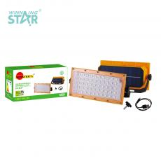 SA-6607 New Arrival SUN AFRICA ABS LED Solar Charging Emergency Lamp with 60 2835 Lamp Beads 3.7V 18650 Lithium Battery 7200mAh Solar Panel U Bracket Micro USB Charging Line