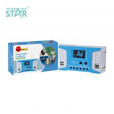 SA-3311 New Arrival SUNARICA 12V/24 20A Automatic Identification Solar Charge Controller with 4*USB Port Color Display Screen
