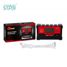 SA-3323 New Arrival SUNARICA 12V/24V 10A Automatic Charge Controller with 2*USB Port LCD Display Temperature Sensing