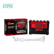 SA-3326 New Arrival SUNARICA 12V/24V 40A Automatic Charge Controller with 2*USB Port LCD Display Temperature Sensing