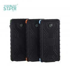 KR-S30 New Arrival 5V/2A ABS+Silicone Solar Portable Power Bank Charger with 1.4W Solar Panel Polymer Battery 10000mAh