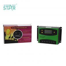 ST6024 New Arrival 12V-24V/60A Automatic Identification Charge Controller with LCD Display Aluminum Plate