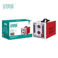 ST-0002 New Arrival WINNINGSTAR 100V-260V 1000W Multifunctional Regulator with Digital Display*2 Copper Power Wire Round Plug Backside 5V 1A 1USB Universal Insert Row