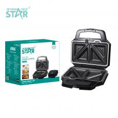 ST-9321 New Arrival WINNING STAR 220-240V 1000W Plate Swappable Sandwich Maker Donut Machine with Indicator Light*2 Different Plate*5 Automatic Temperature Control 80cm Power Line BS Plug