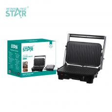 ST-9322 New Arrival WINNING STAR 220-240V 1800W Swappable Striped Plate Panini Sandwich Maker with Indicator Light*2 Automatic Temperature Control 80cm Power Line VDE Plug