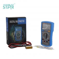 TS890C New Arrival Handheld Digital Multimeter with  9V Battery Max Display 1999 Test Pen Self Recovery Fuse 20A Current Protection Backlight Temperature Measurement
