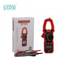 TS-18A New Arrival 3V Digital Clamp Meter Multimeter with LCD Display 32*22mm Max Display 1999 Battery Test Pen NCV Automatic Range Flashlight