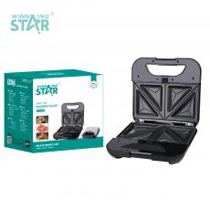 ST-9320 New Arrival WINNING STAR 220-240V 800W Swappable Plate Sandwich Maker Donut Machine with Indicator Light*2 Plate*5 Automatic Temperature Control 80cm Power Line VDE Plug