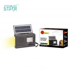 SA-1587BT New Arrival SUN AFRICA Portable Solar Radio with Bluetooth/USB/TF/FM/AM/SW External Antenna 2*D Battery/Built-In Rechargeable Battery USB Charging Line Rope