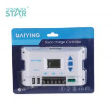 DF20A New Arrival 12/24V 10A Charge Controller with LCD Display 2.1A Double USB Double External Fuse Automatic Identification