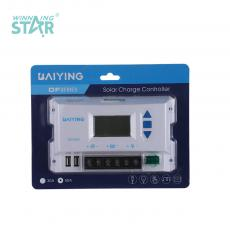 DF50A New Arrival 12/24V 30A Solar Charge Controller with LCD Display 2.1A Double USB Double External Fuse Automatic Identification