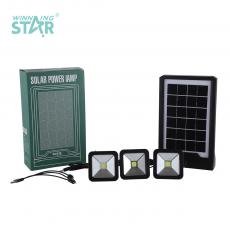 ZO-X501 New Arrival 2 Tube+Light Solar System with 6V/3.5W Polycrystalline Solar Panel Built-In 32650 Battery 5500mAh 2 Step Button Switch USB/Bulb*3 Port 3 In 1 Line COB*3