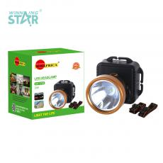 SA-1706 New Arrival SUN AFRICA 1W Φ5.5cm LED Head Lamp with Aluminum Lamp Cup 3*5# Battery 3 Step Button Switch Headband