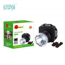 SA-1707 New Arrival SUN AFRICA 1W Φ5cm LED Head Lamp with Aluminum Lamp Cup 3*5# Battery 3 Step Button Switch Headband
