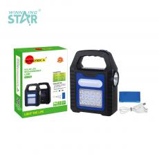 SA-878A New Arrival SUN AFRICA Solar Rechargeable Hand Hold Lamp with 12 Patch Lamp Beads+Opal Lampshade 16 Lamp Beads+1W Side Light Hot Potassium Battery 1200mAh 3 Step Button Switch USB Charging Line