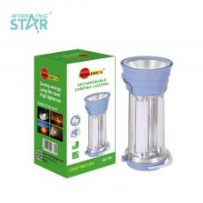 SA-7501 New Arrival SUN AFRICA Rechargeable Hand Lamp with 1W Light+3 Tube 18650 Battery 1200mAh 3 Step Push Switch V8/USB Port USB Charging Line