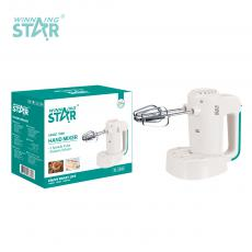 ST-5528 New Arrival WINNING STAR 100W Hand Mixer Egg Beater with Knead Dough 2 Shapes Agitator Bar 5 Speed Regulation 2m Copper Cable BS Plug