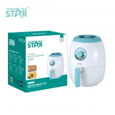 ST-9643 New Arrival WINNING STAR 1350W Air Circulation Fryer 3L with 0-30min/80-200℃ Adjustment Fan Fever Food Steaming Frame Safety Protection Micro Switch 90-94cm Exposed Power Cable VDE Plug