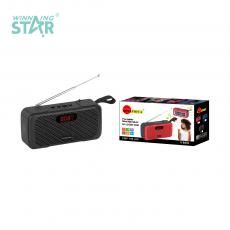SA-L8 New Arrival SUN AFRICA ABS Portable Mini Speaker with Bluetooth/USB/TF/FM External Antenna Solar Panel 3.7V 18650 Lithium Battery 1200mAh Display USB Charging Line