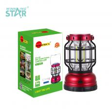 SA-1990T New Arrival SUN AFRICA Solar Rechargeable Multifunctional Camping Lamp with Straight COB*3 18650 Lithium Battery 1200mAh Adjustment Knob Handle
